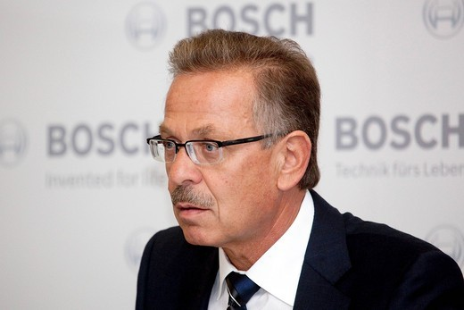Franz Fehrenbach, chairman of the board of the Robert Bosch GmbH group, at the 63. Internationale Automobilausstellung International Motor Show IAA 2009 in Frankfurt, Hesse, Germany, Europe : Stock Photo