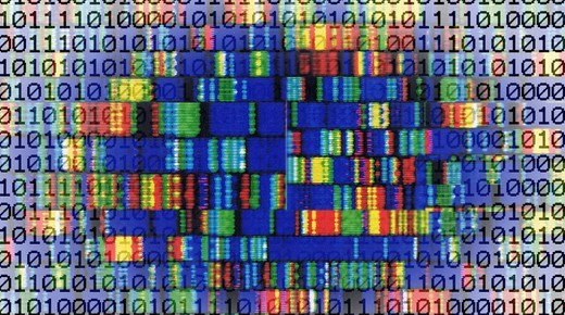 DNA, genes, DNA sequence, symbolic image for genetic engineering : Stock Photo