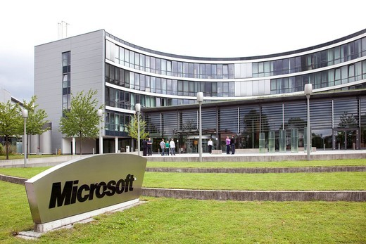 Stock Photo: 1848-449040 Headquarters of Microsoft company for Germany and Europe, in Unterschleissheim near near Munich, Bavaria, Germany, Europe