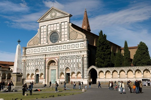 Gothic Dominican church of Santa Maria Novella, UNESCO World Heritage Site, Florence, Tuscany, Italy, Europe : Stock Photo