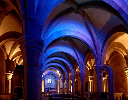 Crypt in Bamberg Cathedral, Bamberg, Upper Franconia, Bavaria, Germany, Europe : Stock Photo