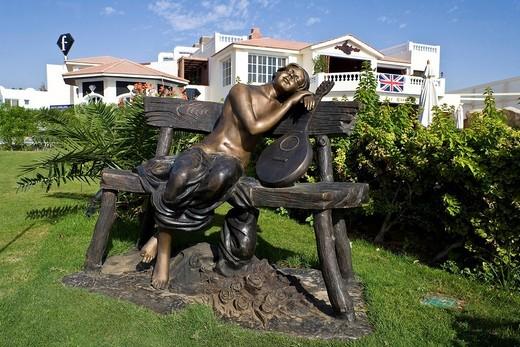 Bronze sculpture in a tourist resort, Sharm el Sheikh, Egypt, Africa : Stock Photo