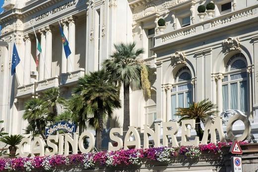 Casino Municipale, San Remo, Riviera, Liguria, Italy, Europe : Stock Photo