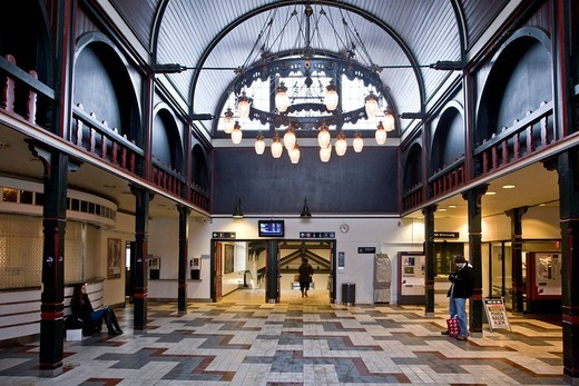 Oesterport railway station in Copenhagen, Denmark, Europe : Stock Photo