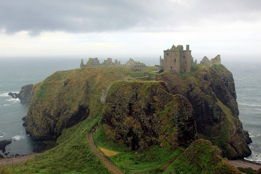 Dunnottar Castle, Aberdeenshire, Scotland, United Kingdom, Europe : Stock Photo