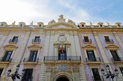 Palacio de Justicia, palace of justice, government agency, Valencia, Spain, Europe : Stock Photo