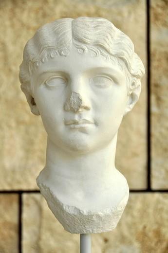 Stock Photo: 1848-452703 Portrait bust of Antonia Minore, Augustae Ara Pacis Museum, Rome, Lazio, Italy, Europe