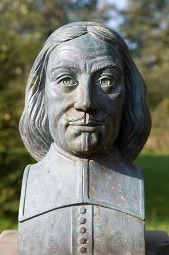 Stock Photo: 1848-453399 Bust of Christoph Bernhard von Galen, 1606_1678, councilman of Luedinghausen, prince_bishop of Muenster, Luedinghausen, Muensterland region, North Rhine_Westphalia, Germany, Europe