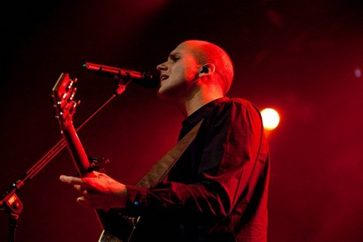 Milow, Belgian singer and songwriter, live in the Lucerne Hall of the KKL in Lucerne, Switzerland : Stock Photo