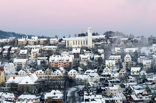 Stock Photo: 1848-454287 Town of Arnsberg in winter, Sauerland, North Rhine_Westphalia, Germany, Europe