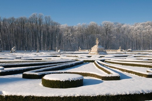 Venusinsel, palace grounds of Schloss Nordkirchen castle in winter, Muensterland, North Rhine_Westphalia, Germany, Europe : Stock Photo