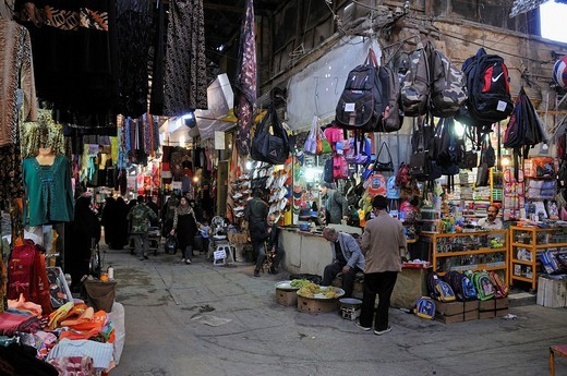 Shops in the covered Bazar of Hamadan, Hamedan, Iran, Persia, Asia : Stock Photo