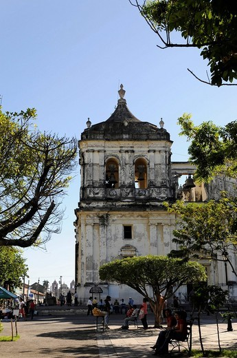 Stock Photo: 1848-454651 Detail, exterior, Catedral de la Asuncion, 1860, Leon, Nicaragua, Central America