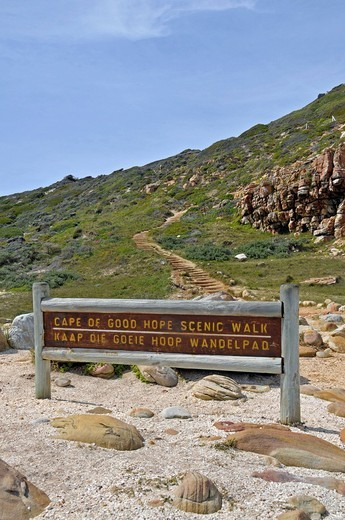 Stock Photo: 1848-455111 Scenic hiking route, Cape of Good Hope, South Africa, Africa
