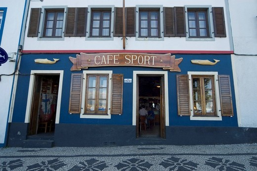 Cafe Sport, Horta, Acores, Portugal : Stock Photo
