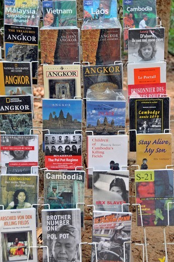 Books, Siem Reap, Cambodia, Asia : Stock Photo