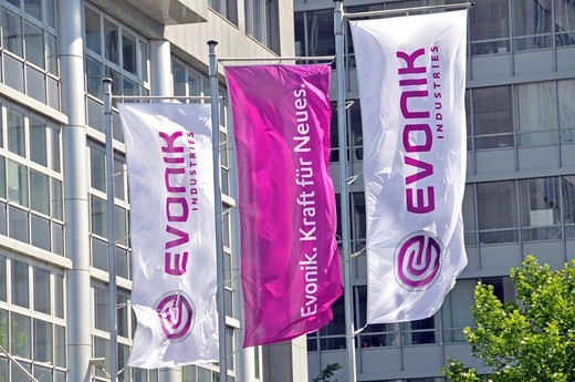 Corporate headquarters of Evonik Industries AG, Essen, Ruhrgebiet region, North Rhine_Westphalia, Germany, Europe : Stock Photo