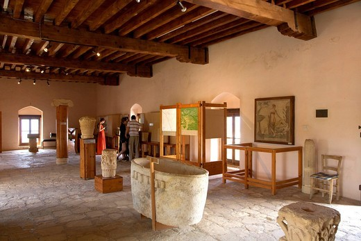 Mosaics, Palaipafos Museum, Aphrodite´s Temple, UNESCO World Heritage Site, Pafos, Cyprus, Greece, Europe : Stock Photo