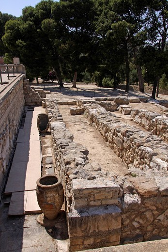 Knossos, archaeological excavation site, Minoan Palace, Heraklion, Crete, Greece, Europe : Stock Photo