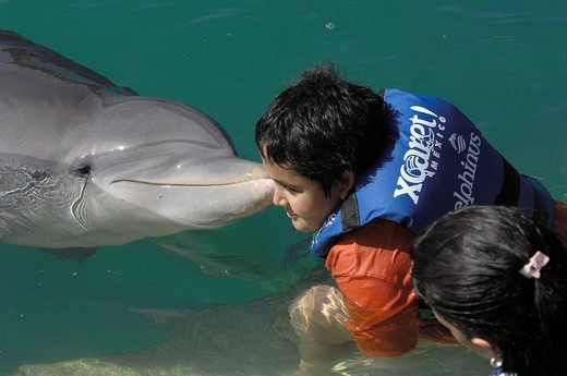 Stock Photo: 1848-457472 Swimming with dolphins area, Xcaret, Eco_archeological park, Playa del Carmen, Quintana Roo state, Mayan Riviera, Yucatan Peninsula, Mexico