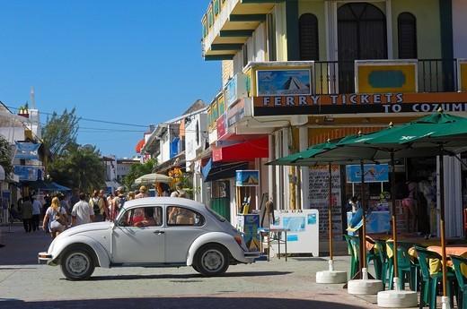 Stock Photo: 1848-457492 5ª Avenue, Playa del Carmen, Caribe, Quintana Roo state, Mayan Riviera, Yucatan Peninsula, Mexico