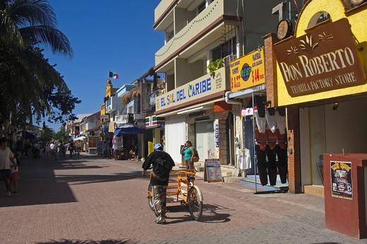 5ª Avenue, Playa del Carmen, Caribe, Quintana Roo state, Mayan Riviera, Yucatan Peninsula, Mexico : Stock Photo