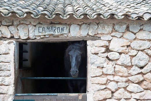 Stock Photo: 1848-458384 Stables of a farm in the Tramuntana massif, Majorca, Spain, Europe