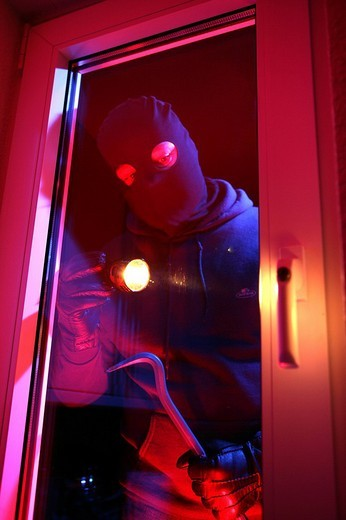 Burglar, burglary : Stock Photo