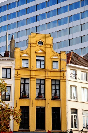 Stock Photo: 1848-459079 Facades in the historic town centre, Brussels, Belgium, Europe