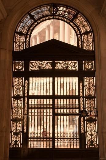 Portal, Neue Hofburg, New Imperial Palace, Heldenplatz square, Vienna, Austria, Europe : Stock Photo