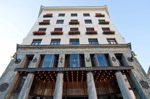 Stock Photo: 1848-460373 Looshaus building, Michaelerplatz square, Vienna, Austria, Europe
