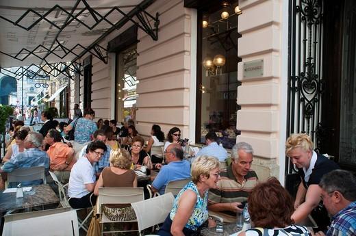 Café Demel, Kohlmarkt, Coal Market Square, Vienna, Austria, Europe : Stock Photo