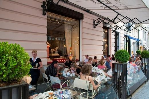Stock Photo: 1848-460390 Café Demel, Kohlmarkt, Coal Market Square, Vienna, Austria, Europe
