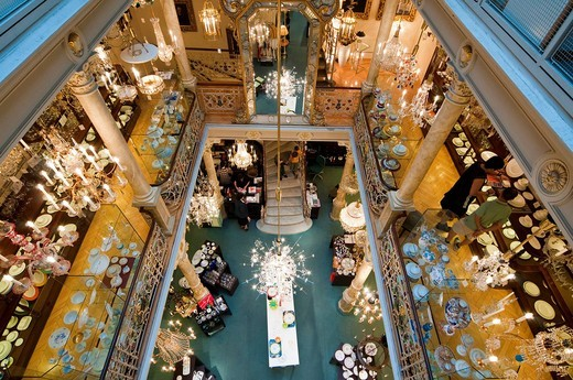 Stock Photo: 1848-460418 Traditional store Lobmeyr, Kaerntner Strasse, shopping street, Vienna, Austria, Europe