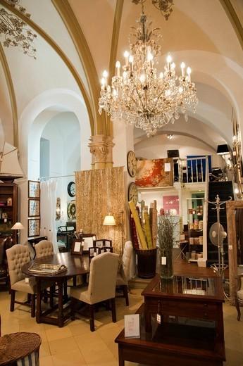 Shop Palais Interiors, Freyung Passage shopping arcade, Vienna, Austria, Europe : Stock Photo