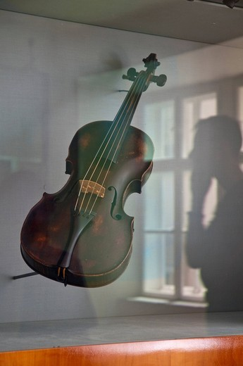 Stock Photo: 1848-460572 Violin by Ignatz Christian Partl, Wien 1766, Mozarthaus museum, Vienna, Austria, Europe
