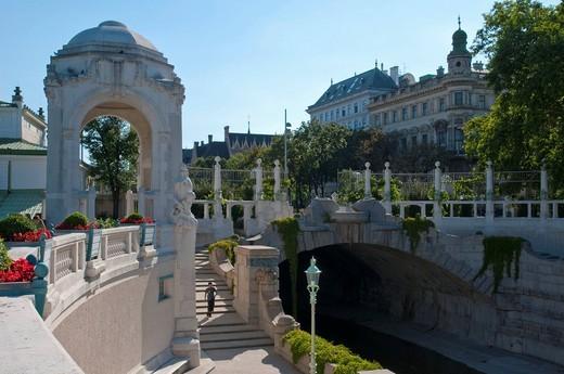 Stock Photo: 1848-460705 Stadtpark city park, Art Nouveau, Ringstrasse street, Vienna, Austria, Europe