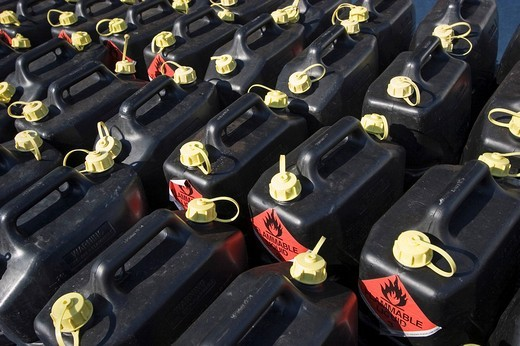 Petrol cans : Stock Photo