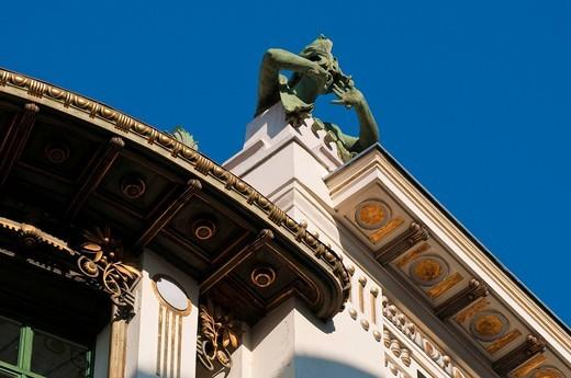 Art Nouveau building in the Wienzeile street, Vienna, Austria, Europe : Stock Photo