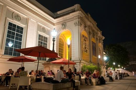 Museum Quarter at dusk, Vienna, Austria, Europe : Stock Photo