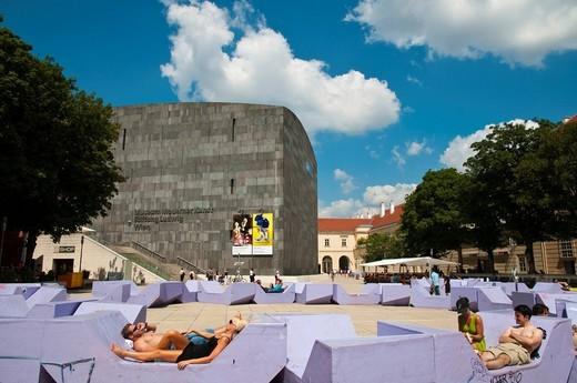MUMOK Museum of Modern Art Ludwig Foundation, Museum Quarter, Vienna, Austria, Europe : Stock Photo