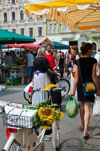 Karmelitermarkt market, Vienna, Austria, Europe : Stock Photo