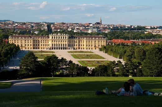 Stock Photo: 1848-460990 Palace gardens, Schloss Schoenbrunn Palace, Vienna, Austria, Europe