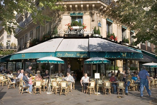 Les Deux Magots cafe, Paris, France, Europe : Stock Photo