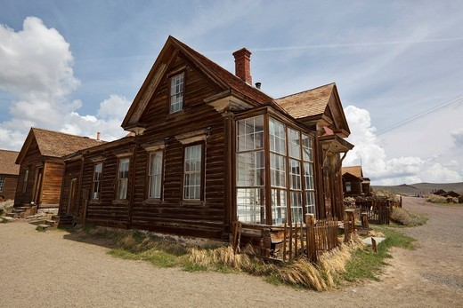 Stock Photo: 1848-461630 Residence of J. S. Cain, corner of Green and Park Street, Bodie State Park, ghost town, mining town, Sierra Nevada Range, Mono County, California, USA