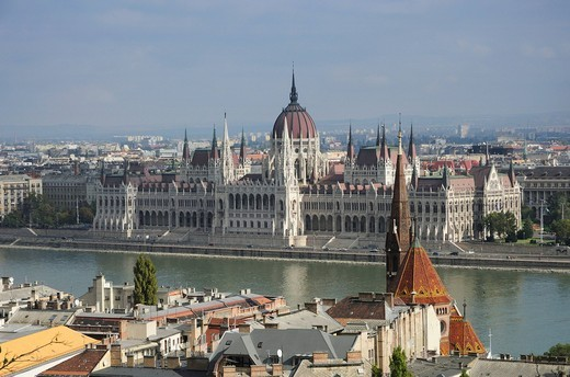 Parliament, Budapest, Hungary, Europe : Stock Photo