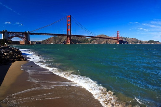 Stock Photo: 1848-462488 Golden Gate Bridge, San Francisco, California, USA, North America