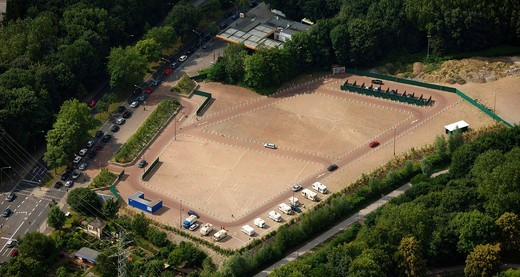 Stock Photo: 1848-463047 Aerial photo, former fair ground, B224, prostitution, performing boxes, street prostitution, brothel, red light district, Altenessen district, Essen, Ruhrgebiet area, North Rhine_Westphalia, Germany, Europe