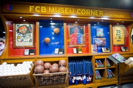 Fanshop, FC Barcelona, Barcelona, Catalonia, Spain, Europe : Stock Photo