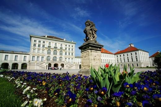 Nymphenburg Palace, Munich, Bavaria, Germany, Europe : Stock Photo